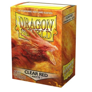 Dragon Shield Clear Red