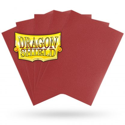Dragon Shield Matte Red Sleeves