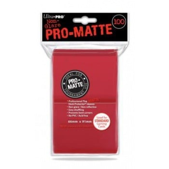 Ultra Pro Standard Deck Protector PRO Matte Red