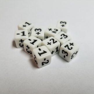 Mini Counter Dice White