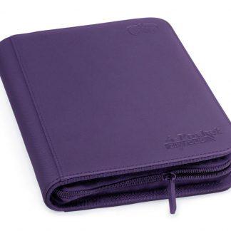 4-pocket zipfolio purple
