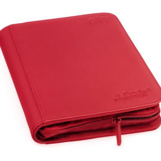 4-pocket zipfolio red