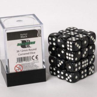 Black dice cube