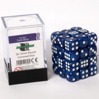 Blue dice cube