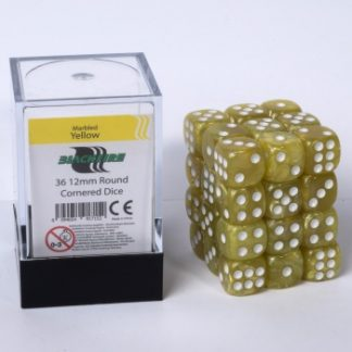 Flash Yellow dice cube