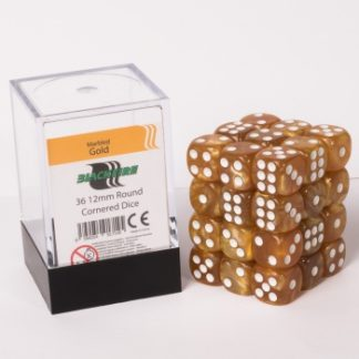 Gold dice cube