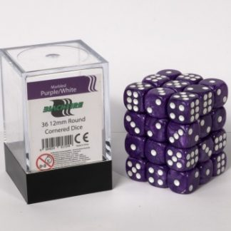 Purple dice cube