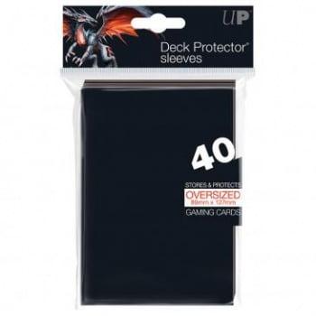 Oversized Top Loading Sleeves - Black (40 Sleeves)